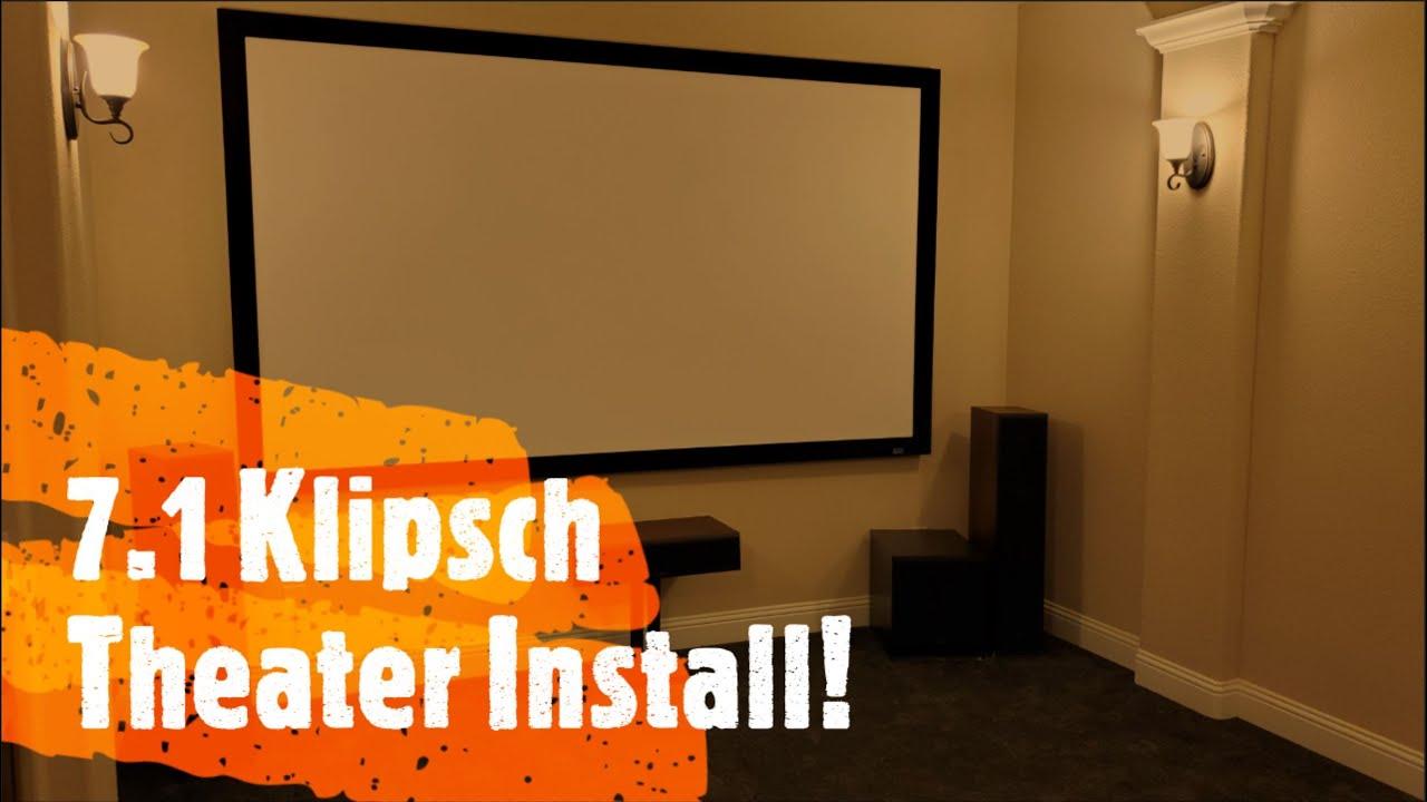 7.1 Klipsch, IMAX, Epson, Control4, Octane Seating Media Room Install