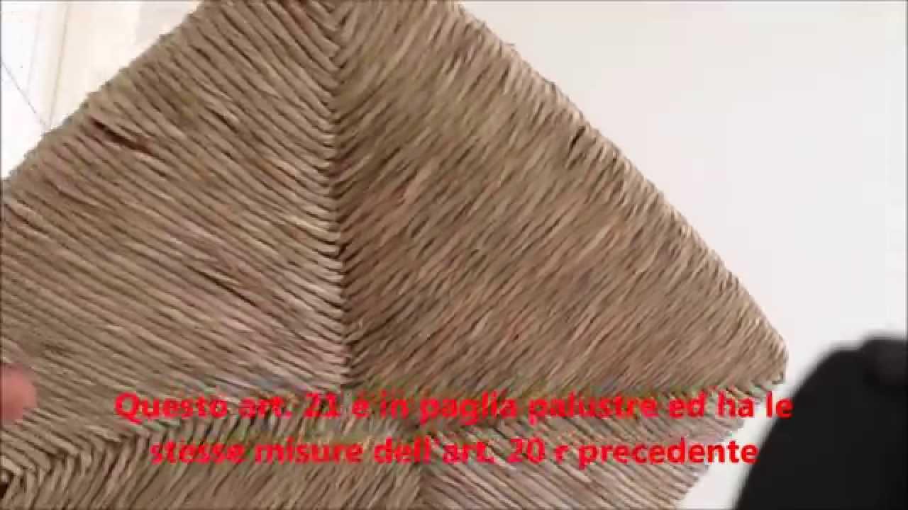 Sedute per sedie in paglia modello venezia viyoutube - Tappezzare una sedia ...