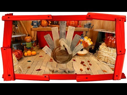 DIY Miniature- How to build a Barn Wood Turkey Yard Art ( Dollhouse Miniature )