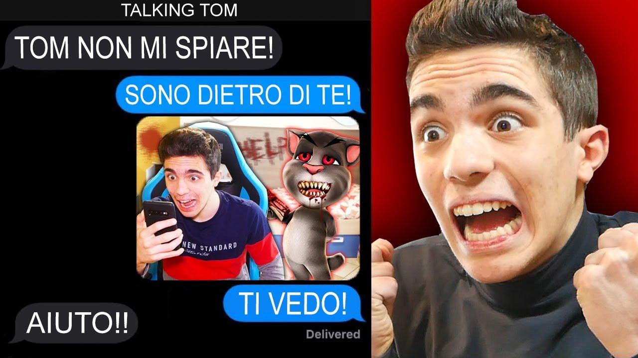 """""""TALKING TOM"""" MI HA SCRITTO in CHAT!!😱 HA MESSO TELECAMERE NASCOSTE IN CASA MIA! *segreto pauroso*"""