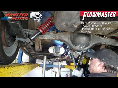 1969 Plymouth Satellite - Flowmaster 40 Series - Dual Exhaust (Flowmaster Exhaust)