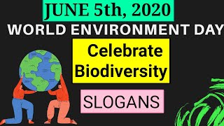 JUNE 5- 2020 ||World environment day | Theme- Biodiversity | slogans | theme ||పర్యావరణ దినోత్సవం