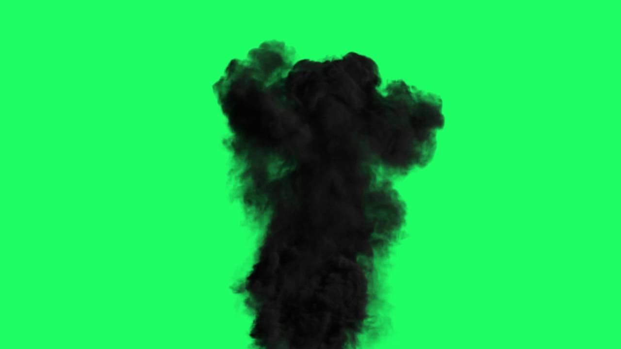fum e noire hd sur fond vert youtube. Black Bedroom Furniture Sets. Home Design Ideas