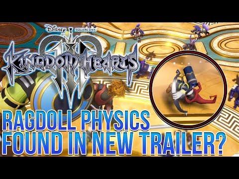 Kingdom Hearts 3 - Ragdoll Physics Found in The New Trailer!