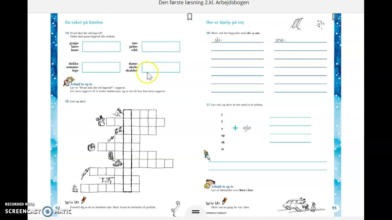 Læsebogen s. 120-121 + Arbejdsbogen s. 92 (Husk at øve og skrive staveord)