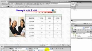 TQC Dreamweaver CS4 110-理財諮詢服務統計