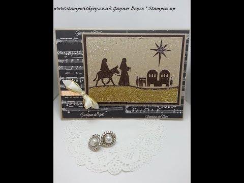 Night in Bethlehem card Stampin up