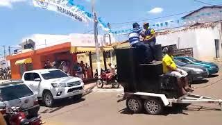 Lrá passeata em abaiara Ceará cavalo moto moto e carro