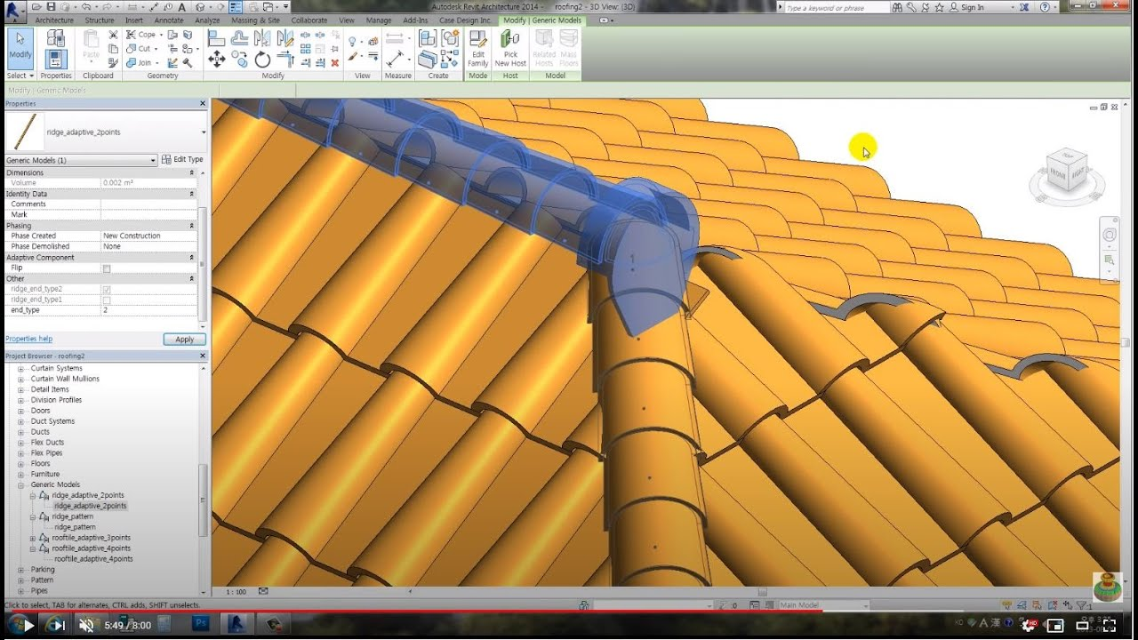 Revit Tips Spanish Roof Adaptive Insane Version Youtube