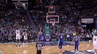 Dwight Howard Hits Three Point Buzzer Beater! Charlotte Hornets VS Philadelphia 76ers!