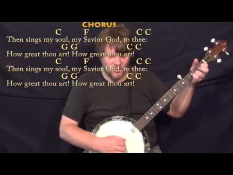 how-great-thou-art-(hymn)-banjo-cover-lesson-in-c-with-chords/lyrics