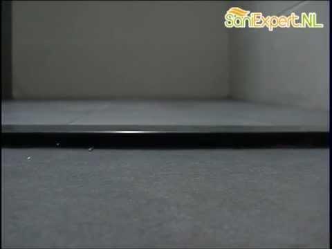 Huppe Gigo - Dorpel vlak r 125x115x5 antraciet - YouTube