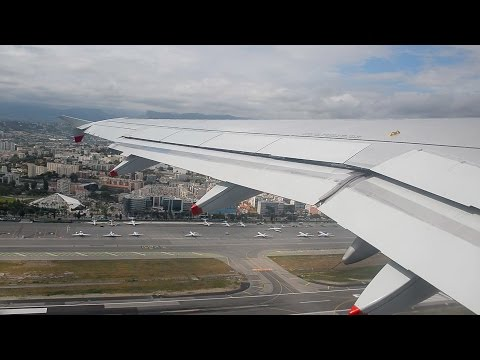 British Airways Airbus A319 Onboard Takeoff - Nice Côte d'Azur Airport NCE