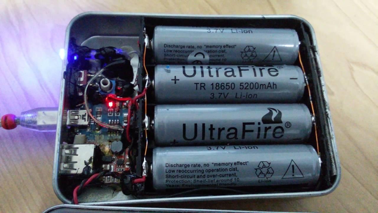 Power Bank portatile fai da te con batterie 18650  YouTube