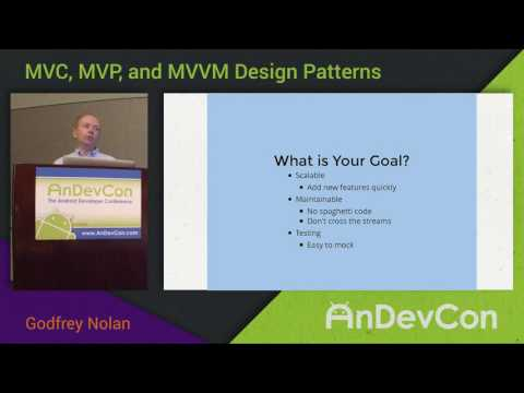 MVC, MVP, MVVM Design Patterns with Godfrey Nolan