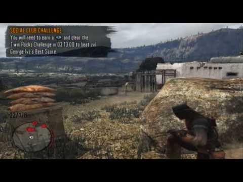 Red Dead Redemption -Rockstar Social Club- Twin Rocks Challenge