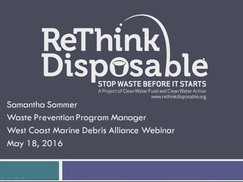 ReThink Disposable: a program to reduce use of marine debris-prone items from food service industry