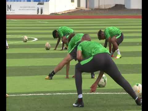 Bafana Bafana training in Cape Verde. Courtesy of SAFA.