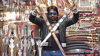 Indian Sword Market Pushkar तलवार, छुरा ,छुरी,बन्दूक  Indian Weapones Market Pushkar Rajasthan Thumb
