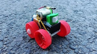 How to make a Powerful Car using 9v battery