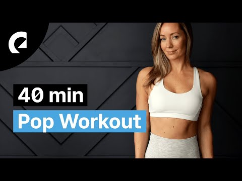 40 min Pop Workout by Heather Robertson - No Jumping HIIT (Extended Version)