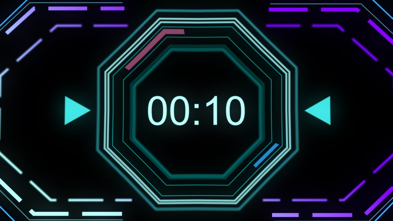 countdown timer 1 minute   v 510   with sound effects
