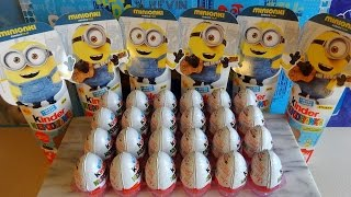 2015 Minions Movie 24 Kinder Surprise Eggs + Toys - Huevos Sorpresa