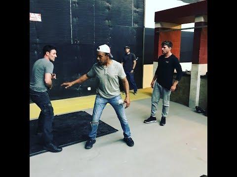 Ryan Phillippe fight rehearsal with Josh Stewart Shooter S3