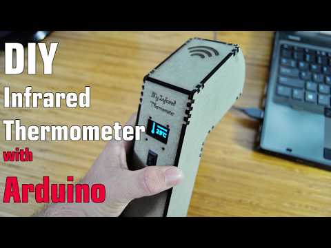 Arduino Infrared Thermometer With Case MDF