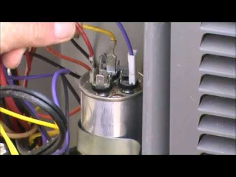 How To Replace A Fan Motor In An Air Conditioner furthermore Watch as well How I Repaired My Home Air Conditioning Myself For Less Than 20 further How To Check An Electric Motor With A Multimeter likewise Watch. on wiring diagram for a air conditioner run capacitor
