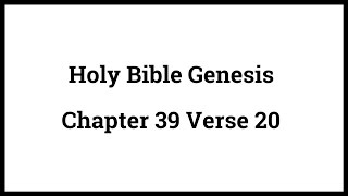 Holy Bible Genesis Chapter 39 Verse 20