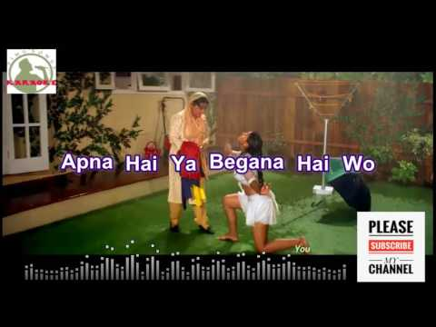 Mere Khwabon Main Karaoke song HD with lyrics