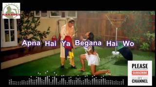 Mere Khwabon Main Karaoke song HD with lyrics