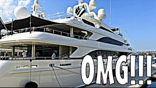 INSANE MEGA YACHT TOUR AT YAS MARINA F1!