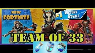 Winning without shields in Teams of 33!! Fortnite Battle Royale