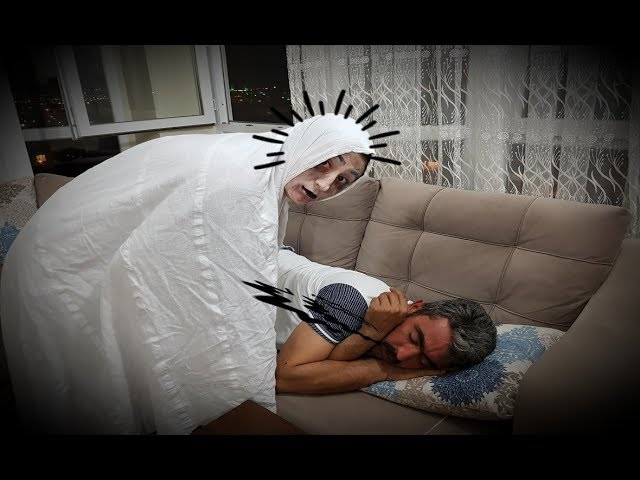 Annem Hayalet Olup Babam? Uykuda Korkuttu (Prank)