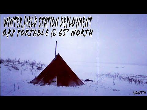 Man Portable Ham Radio QRP in a Hot Tipi Tent