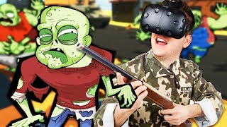 Cardboard Zombies in VR! - Zombie Training Simulator Gameplay - HTC Vive VR