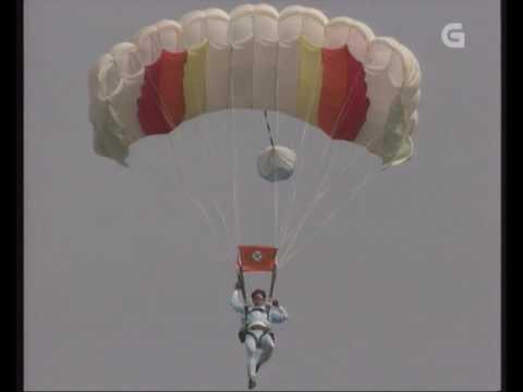 Paracaidismo Galicia en el Programa Terra TVG (1990)
