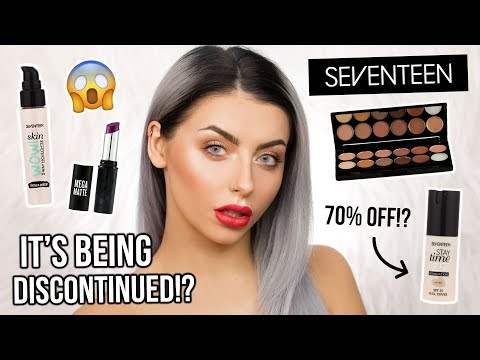 TESTING SEVENTEEN / 17 MAKEUP ! FULL FACE OF DRUGSTORE FIRST IMPRESSIONS