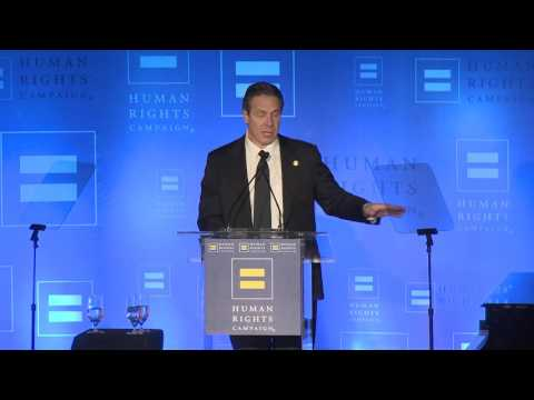 Governor Cuomo Speaks at the Human Rights Campaign's 2016 Greater New York Gala