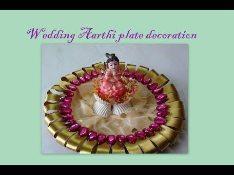 Wedding Aarthi plate decoration - YouTube