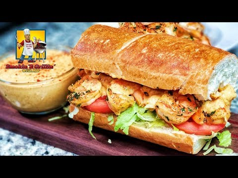 Po' Boy Sandwich | Shrimp Po Boy