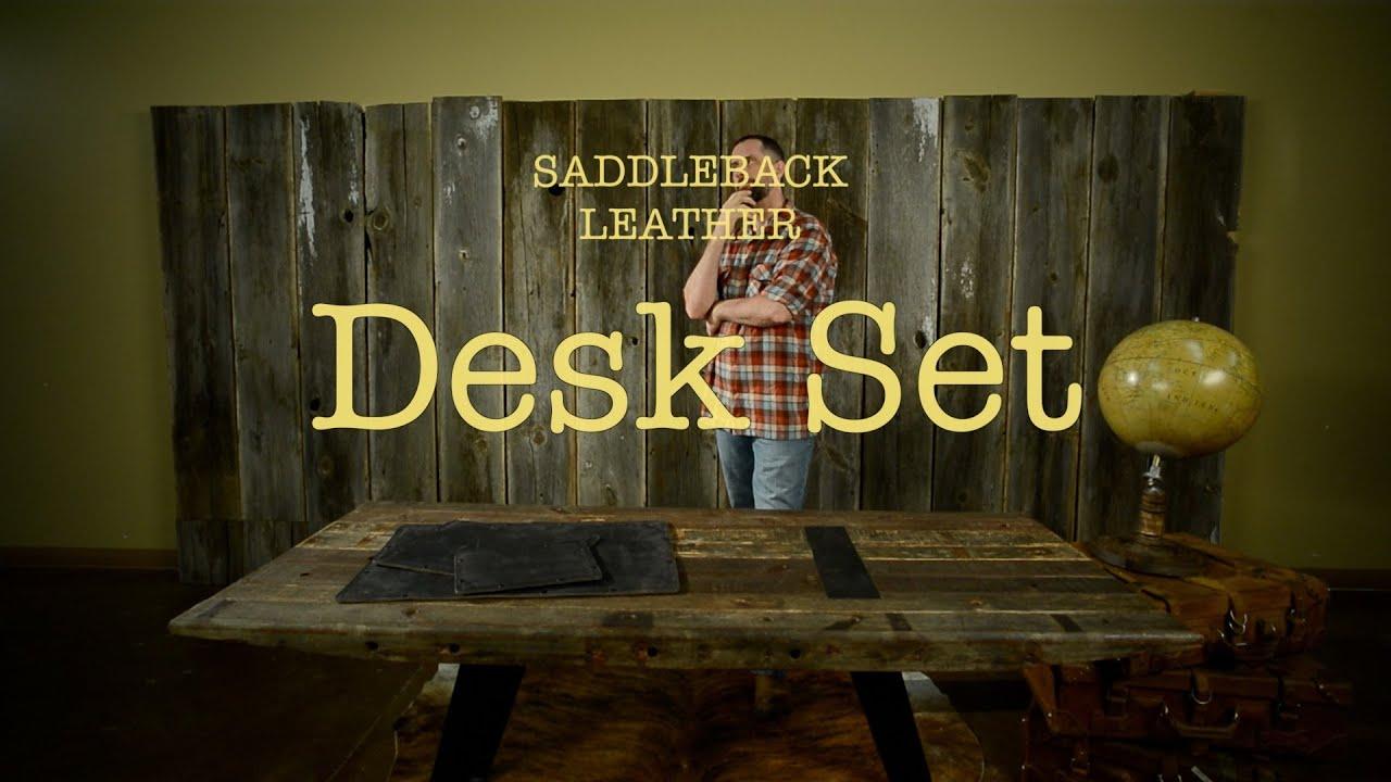 The Desk Pad Set Everything Your Office Needs Saddleback Leather