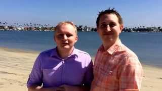 Michael and Mathew testimonial after their beach wedding.