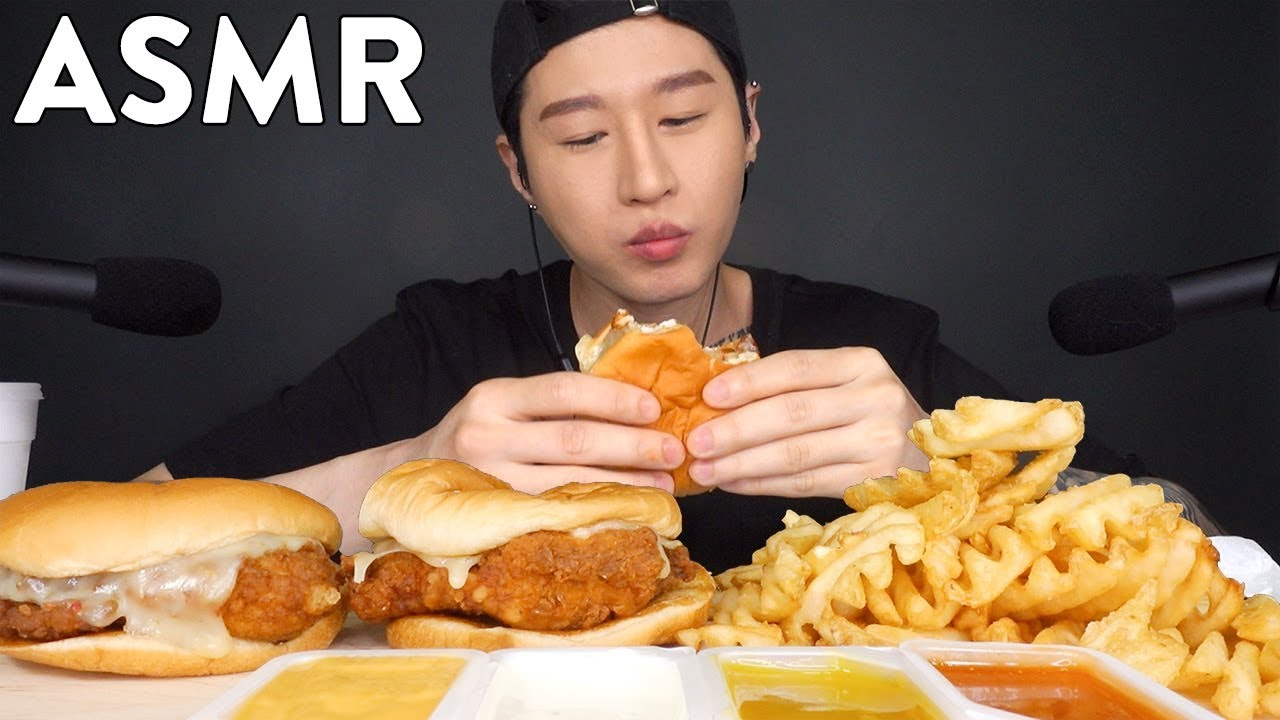 Asmr Chick Fil A Mukbang No Talking Eating Sounds Zach Choi Asmr