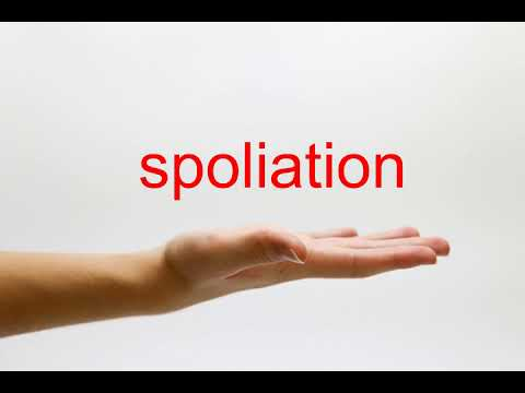 How to Pronounce spoliation - American English