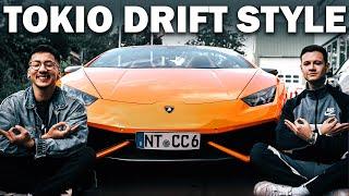 Er fährt diesen Dreckskarren   Der Lamborghini Huracan Spyder   Youtuner Tokio Drift Edition