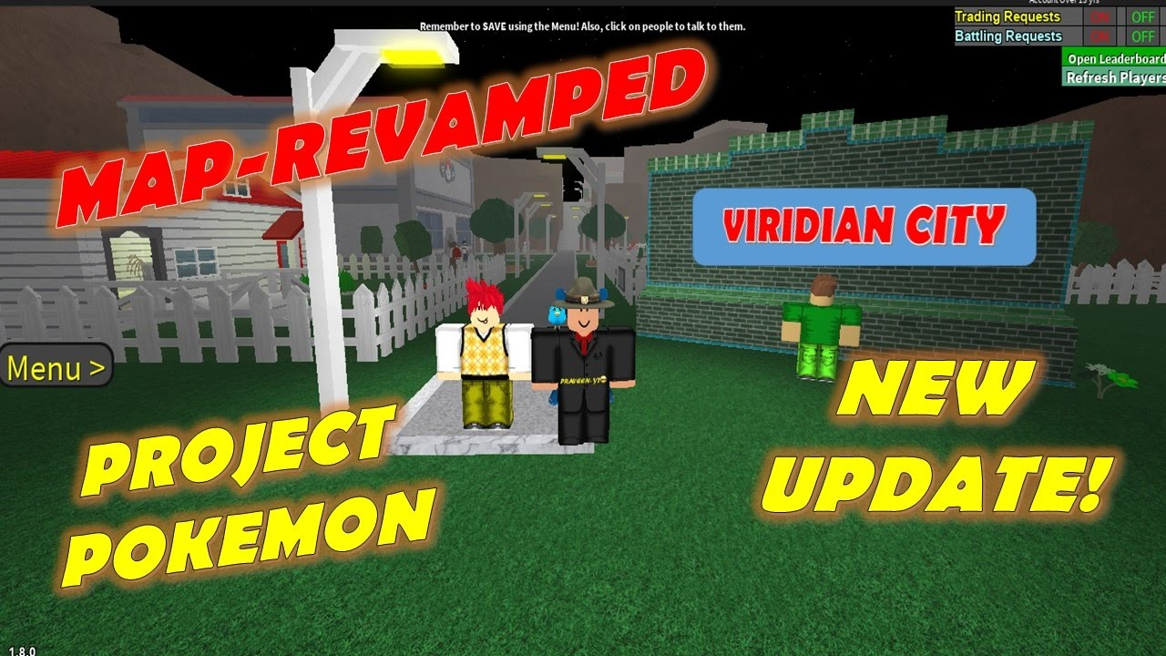 New Update Map Revamp Project Pokemon Youtube