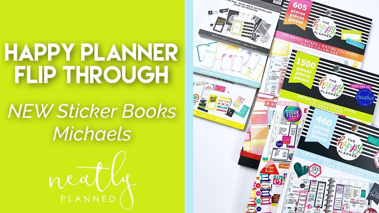 NEW Happy Planner Stickers At Michaels | Flip Through